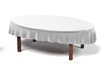 3d render of tablecloth on table