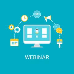 Webinar, Webcast, Livestream, Online Event Illustration