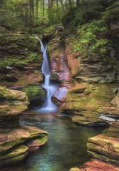 Adams Falls at Ricketts Glen in Pennsylvania