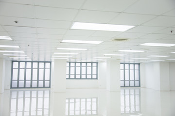White room and empty space with windows