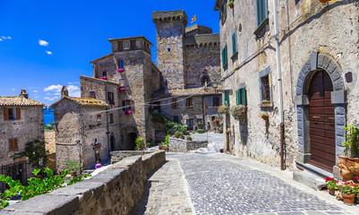 Bolsena village and castle - beautiful medieval borgo in Italy