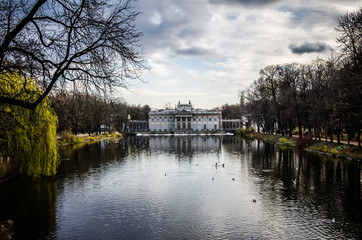 Palace on the water at Royal Baths Park, Warsaw