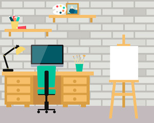 Workplace artist