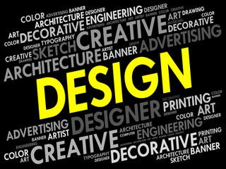 Design word cloud, creative business concept