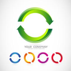 Circle arrow logo recycle