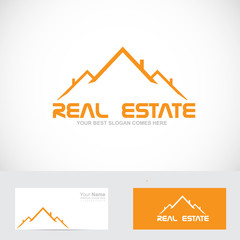 Real estate orange roof logo