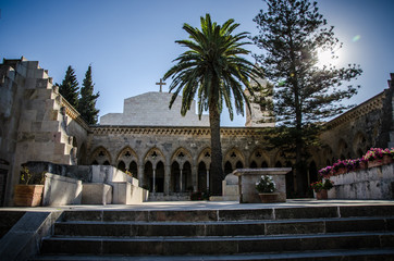 Pater Noster church on Mount of Olives in Israel