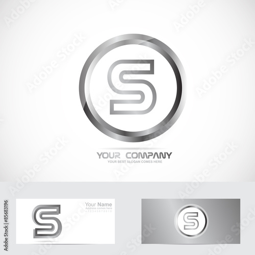 letter s silver ring logo stock image and royalty free vector files