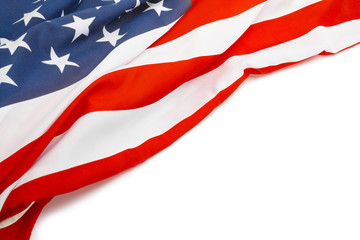 USA flag with place for your text - close up