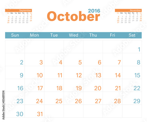month calendar oct 2016 stock image and royalty free vector files
