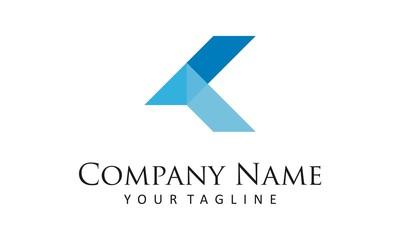 K Logo. Letter K logo icon design template elements. Vector color sign.