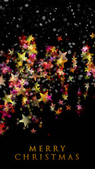 fantastic christmas design with snowflakes and stars