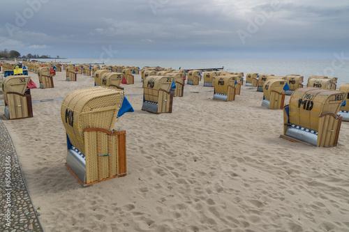Strandkörbe  Deutschland, Norddeutschland, Ostsee, Kellenhusen, Timmendorfer ...