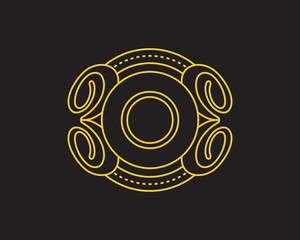 O Monogram Luxurious Royal Elegant Logo