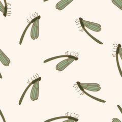 bug cartoon , cartoon seamless pattern background