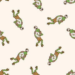 Animals play football cartoon , cartoon seamless pattern background