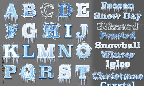 frozen graphic styles for adobe illustrator (cs5 and up). set of