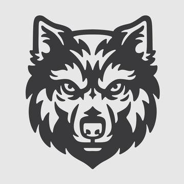 Wolf Head Logo Mascot Emblem