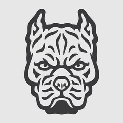 Pitbull Head Logo Mascot Emblem