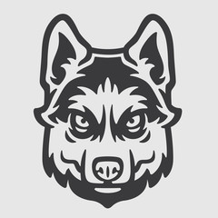Huskies Head Logo Mascot Emblem