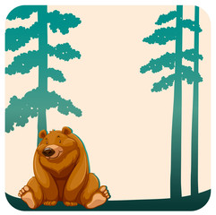 Bear and trees