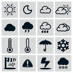 Weather Icon Set Silhouette