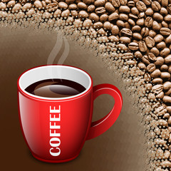 Coffee background vector illustration