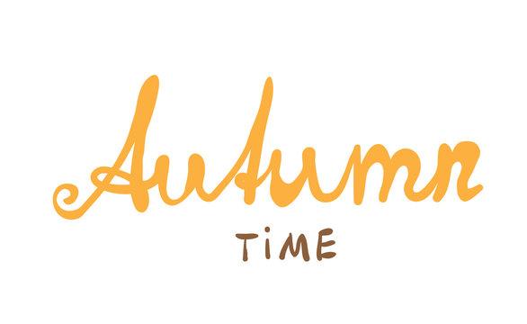 Hand-written word AUTUMN, lettering