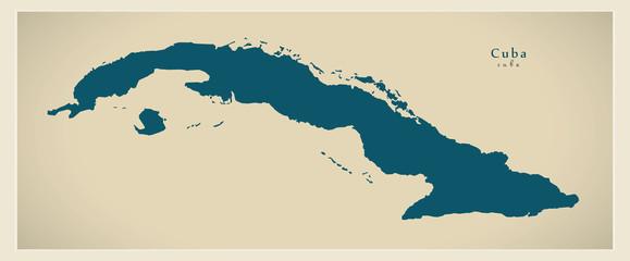 Modern Map - Cuba CU