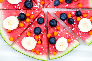 Vegan Snack from Watermelon, Fruits and Berries - blueberry, shr
