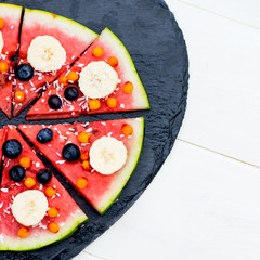 Vegan Snack from Watermelon, Fruits and Berries - blueberries, s