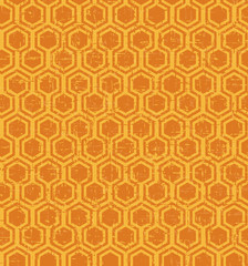 Seamless vintage worn out polygon geometry pattern background.