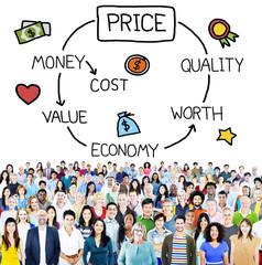 Price Economy Money Cost Value Worth Concept