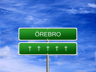 Orebro City Sweden Sign