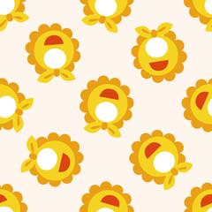 Baby bib , cartoon seamless pattern background