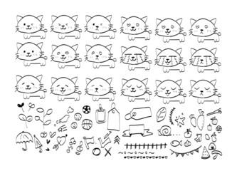 手書きイラスト(猫)