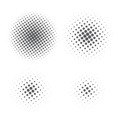 Abstract Halftone element for graphic design