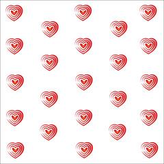 Heart valentine vector white background illustrator