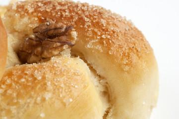 Bread with sugar and walnut