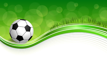 Background abstract green grass football soccer ball frame