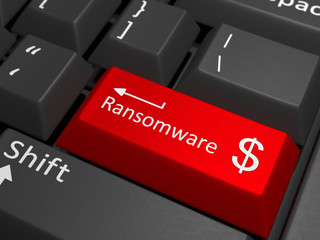 Ransomware dollar key on keyboard