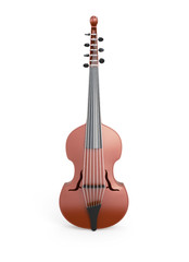 Classical viola d'amore front view