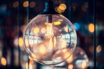 Beautiful retro luxury light lamp decor glowing