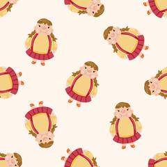 fatty , cartoon seamless pattern background