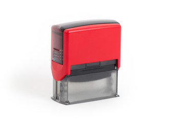 Plastic stamp isolated