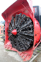 Old USA railway Snow plough in Skagway,Alaska