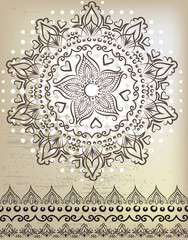 Beautiful mandala. Lace and patterns.