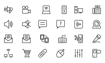 Communication Vector Line Icons 3