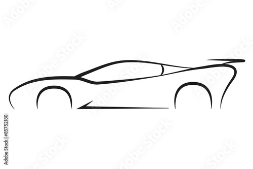 Cool car outline logo 16