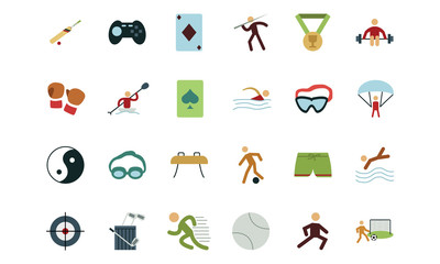Sports and Games Colored Icons 3